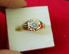 Gold size 12 Mens Rings 10kt gold w/ Diamonds & Topaz stone