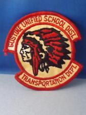 GUSTINE UNIFIED SCHOOL DISTRICT TRANSPORTATION DEPT PATCH VINTAGE  BUS  TRUCK
