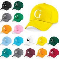 Kids Embroidery Baseball Cap Girls Boys Junior Childrens Hat Summer A Z Yellow