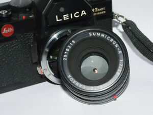 * Camera  Leica R3 mot Electronic With Summicron R 2/50mm