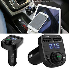 Wireless Bluetooth Car MP3 Player FM Transmitter Radio LCD Dual USB Charger