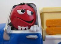 "M &M CANDY DISPENSER "" SWEET WHEELIN"" RED'S GARAGE BLUE PICK UP TRUCK W/ CANDY"