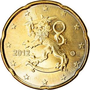 [#765700] Finlande, 20 Euro Cent, 2012, SUP, Laiton, KM:127