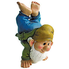 """Handstand Henry The Garden Gnome Design Toscano 10½"""" Hand Painted Statue"""