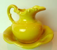 McCoy Wash Bowl and Pitcher Vintage Yellow