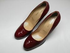 Women's BRUNO MAGLI Red Patent Leather Wedge Heels Size EU 39 US 8