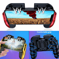 For PUBG Fortnite Six-Finger Gaming Mobile Phone Controller Gamepad w/ Cool Fan