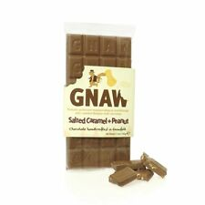 Gnaw Salted Caramel Peanut Milk Chocolate Bar 110g Natural Colours & Flavours