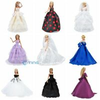 E-TING Doll Clothes Wedding Dress PrincessParty Gown Accessory For Barbie Dolls