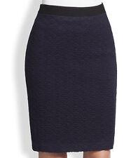 NWT $248 Nanette Lepore Sherlock Diamond Pattern Pencil Skirt 2