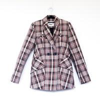 BNWOT CAMILLA AND MARC oren blazer plaid checked black red white jacket 6