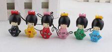 lot of 24 pcs Japanese kokeshi doll mobile phone strap Charm