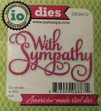 With Sympathy Die for Scrapbooking (Die366Q)