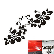 2pcs Plant Flower Bumper Personalized Creative Car Sticker Decal Black / Silver