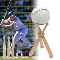 Mini Wood Baseball Bat Golf Tennis Ball Display Base Stand Bracket Souvenir Ball