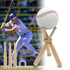 Mini Wood Baseball Bat Golf Tennis Ball Display Base Stand Bracket Souvenir Ball