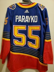 Colton Parayko ST. LOUIS BLUES AUTHENTIC PRO ADIDAS NHL 3rd JERSEY Size 52