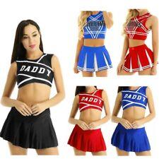 2PC Sexy Cheerleader Uniform Womens School Girls Set Cosplay Costume Fancy Dress