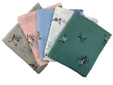 Floral Foil Print Scarf Women Light Weight  Lady Large size Hijab Shawl Snood