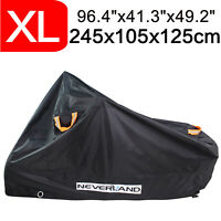 XL Heavy Duty Motorcycle Cover Waterproof Rain Dust Outdoor Storage Protector