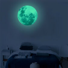 30cm 3D Moon Fluorescent Wall Sticker Removable Glow In The Dark Sticker Gifts