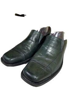 Johnson & Murphy Light Green SheepSkin Leather Dress Shoes Loafer Men's US 8.5 M