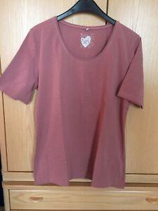 Tolles Basic-Shirt von Liberty (altrosa) in Gr. L - kurzarm