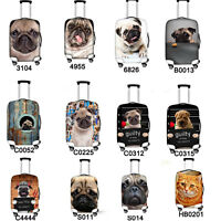 "Pug Dust-proof Elastic Travel Spandex Luggage Cover Suitcase Protector 18""-28"""