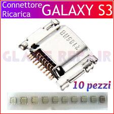 10 PZ CONNETTORI di RICARICA CARICA 11 PIN x SAMSUNG GALAXY S3 I9300 I9301I NEO