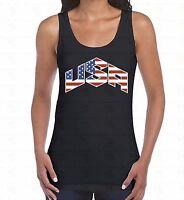 USA Flag WOMEN TANK TOP 4th Of July United States America Pride Ladies TankTOP