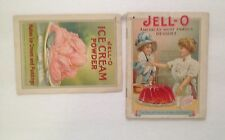 Two c 1910 Recipe Booklets For Jell-o and Jell-o Ice Cream Powder mmmm