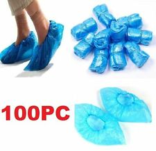 100PCs Home Disposable Medical Plastic Shoe Covers Cleaning Overshoe Covers