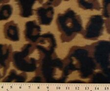 Brown and Black Leopard Spots and Skin Fleece Fabric Print by the Yard A335.04