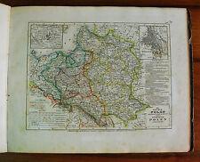 1849 MEYER'S ZEITUNGS-ATLAS=MAPPA GEOGRAFICA.POLONIA E REGNO DI POLONIA.ETNA