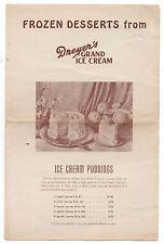 1930s Advertising Brochure and Price List Dryer's Grand Ice Cream Oakland CA