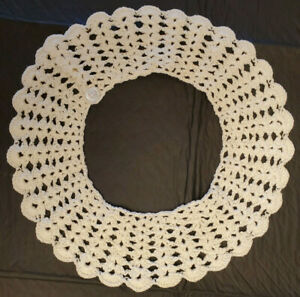 Grandma's Vintage Crocheted Tatted Collar Retro handmade lace gorgeous!