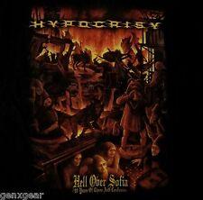 HYPOCRISY dvd cvr HELL OVER SOFIA Official SHIRT MED new