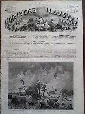 L'UNIVERS ILLUSTRE 1874 N 992 INONDATION DE LA PLAINE DE LA MITIDJA PRES D'ALGER