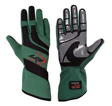 LRP Kart Racing Gloves- Speed Gloves Black/Green