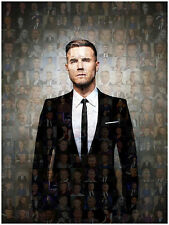 LARGE ORIGINAL AND UNIQUE PHOTO MOSAIC / COLLAGE PHOTO POSTER OF GARY BARLOW