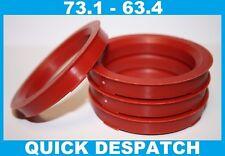 4 x 73.1 - 63.4 Cerchio in Lega Fissaggio Mozzo Anelli di Centraggio Volvo V70