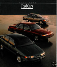 1992 Ford 16-page Car Line Sales Brochure - Crown Victoria Mustang Thunderbird