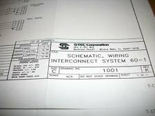 Schematic, Wiring interconnect  for S-Tec System 60-1