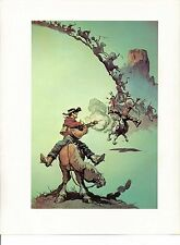 "1978 Full Color Plate ""Fastest Guitar In The World"" by Frank Frazetta Fantastic"