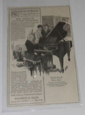 Kranich & Bach Quality Pianos 1915 Single Piece Ad Great Illustration Nice SEE!