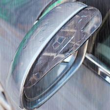 1 Par Coche Trasera Vista Espejo Lateral Placa De Cejas Guardia Palo De Lluvia Negro Visera De Sol