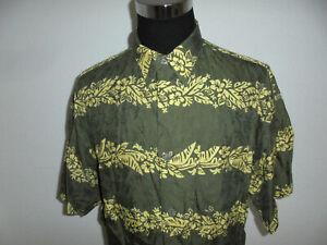 SIGNUM Hemd crazy pattern Kurzarm Oberhemd Freizeithemd gemustert vintage Gr.L