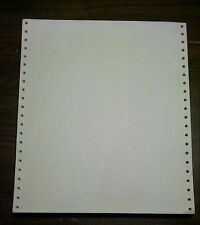Continuous Fan-Fold Dot Matrix Tractor Feed Printer Paper 50 Sheets  8 1/2 x 11