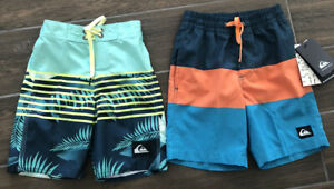 2020 QUIKSILVER BOYS SWIM VOLLEY BOARDSHORTS SZ 3-7  MAGIC VOLLEY / LIGHTNING