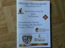 Programm Bitburger Rheinlandpokal SV Eintracht Trier 05 - TuS Koblenz